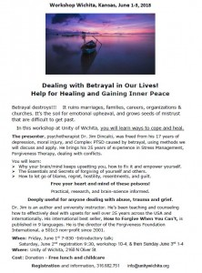 Betrayal workshop wichita KS June 1-3